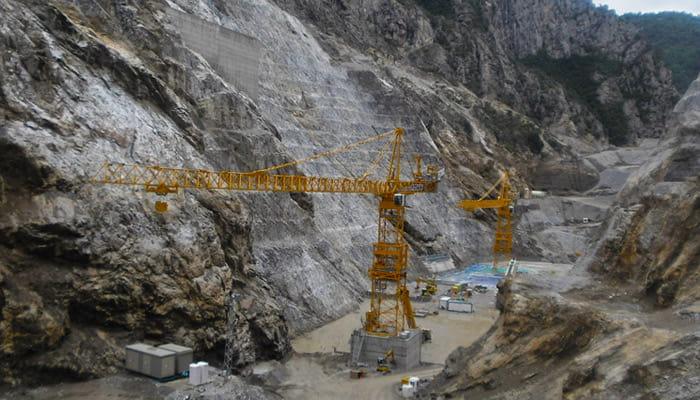 Kule vinç boyabat barajı